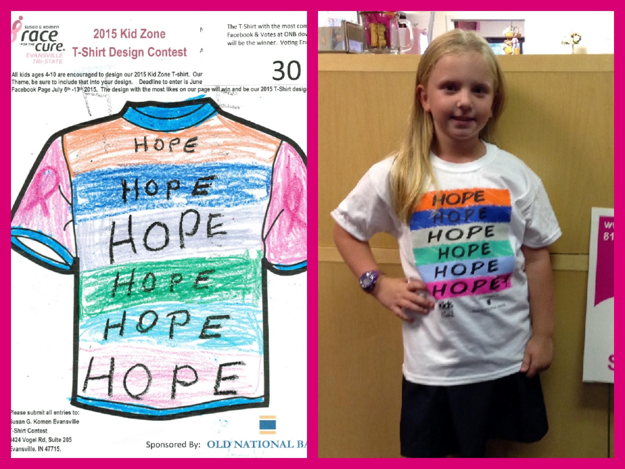 2016 Kid Zone T Shirt Design Contest Susan G Komen Evansville Tri